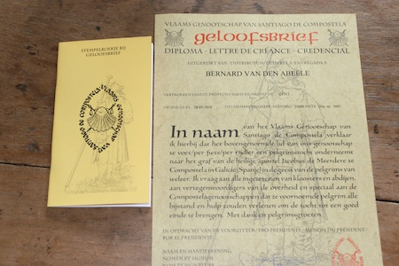 geloofsbrief, credential, stempelboekje