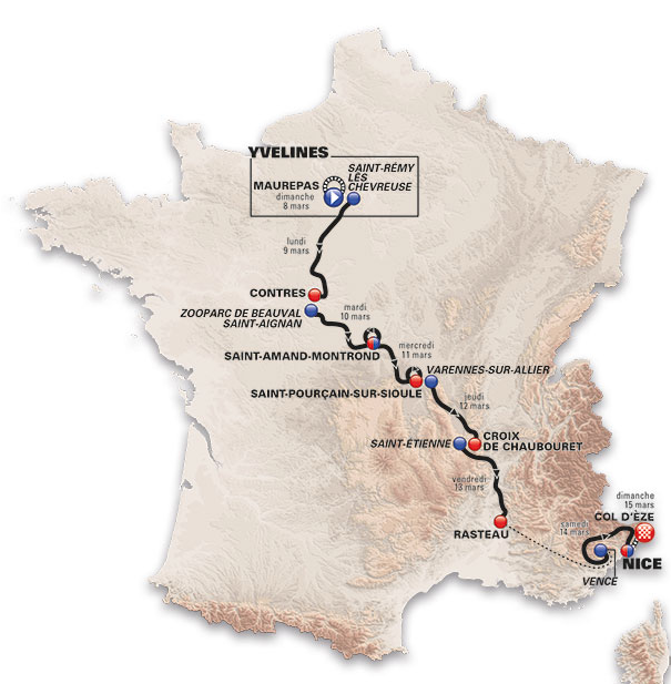 route Paris-Nice 2015